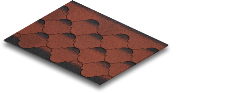 سقف شینگل BTM مدل Rustik