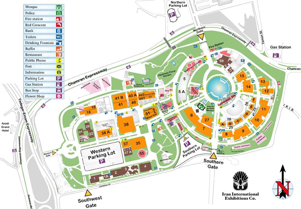 نقشه نمایشگاه بین المللی ساختمان تهران ۱۳۹۵
